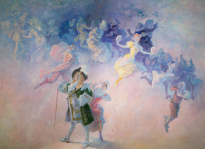 Fantastical Painting - Comedy by Jules Cheret