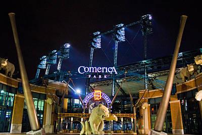 Comerica Park At Night  Art Print by John McGraw