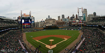 Comerica Park - Detroit Tigers Art Print by Michael Rucker
