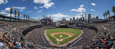 Photograph - Comerica Park From Behind The Plate by John McGraw