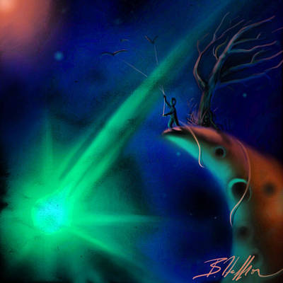 Comet Art Print by Brandon Heffron