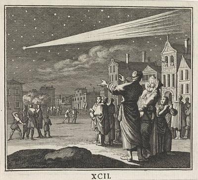 Night Scenes Drawing - Comet, Caspar Luyken, Christoph Weigel by Caspar Luyken And Christoph Weigel
