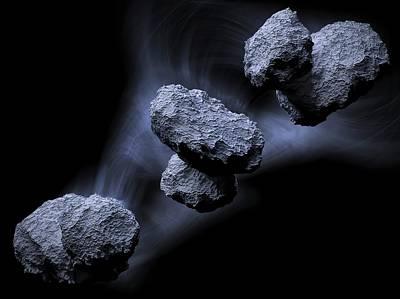 Comet Churyumov-gerasimenko Art Print by Maurizio De Angelis