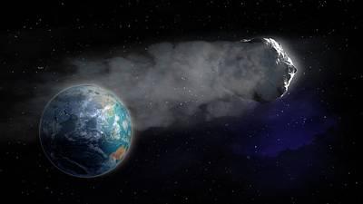 Comet Flying Towards Earth Art Print