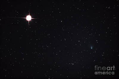Murakami Photograph - Comet Ikeya-murakami Passes Saturn by John Chumack