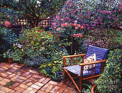 Deck-chairs Painting - Comfort Chair by David Lloyd Glover