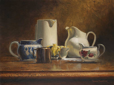 Classical Masterpiece Still Life Paintings - Comfort those that Mourn by Graham Braddock