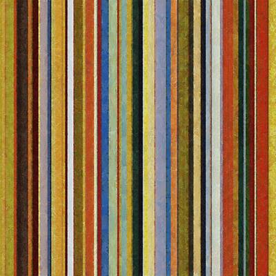 Textured Painting - Comfortable Stripes V by Michelle Calkins