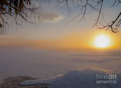 Art Print featuring the photograph Comfortable Winter View by Rose-Maries Pictures
