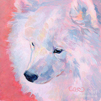 Samoyed Painting - Comfortable With His Masculinity by Kimberly Santini