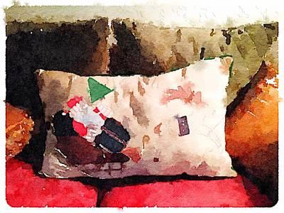 Digital Art - Comfy Santa by Shannon Grissom