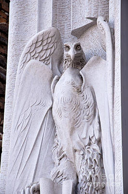 Photograph - Comical Eagle On Church Facade by Brenda Kean