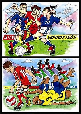 Goalkeeper Drawing - Comics. Fourth Page. by Vitaliy Shcherbak