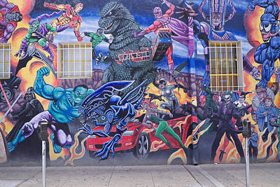 Photograph - Comics Mural Albuquerque by Mary Lee Dereske