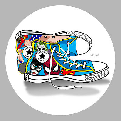 Humor Digital Art - Comics Shoes 2 by Mark Ashkenazi