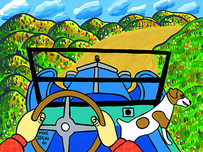 Model T Ford Painting - Comin' Round The Mountain by Mike Segal