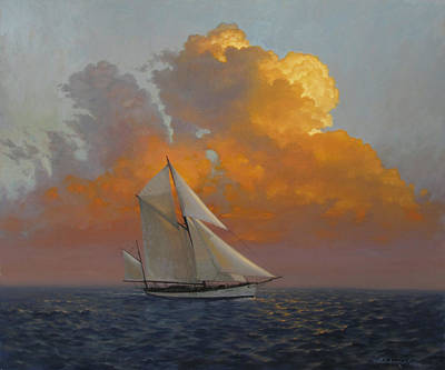 Coming Clouds Painting - Coming About by David Henderson