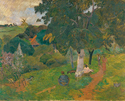 Martinique Painting - Coming And Going. Martinique by Paul Gauguin