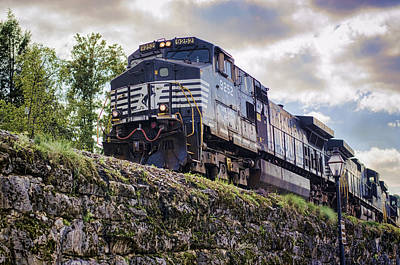 Photograph - Coming Down The Tracks by Heather Applegate