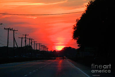 Telephone Poles Photograph - Coming Home From Henryville by Deborah Benoit