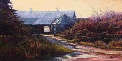 Pastel Barns Painting - Coming Home by Vicky Russell