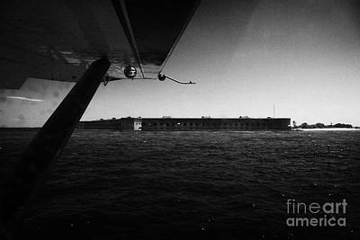 Coming In To Land On The Water In A Seaplane Next To Fort Jefferson Garden Key Dry Tortugas Florida  Art Print by Joe Fox