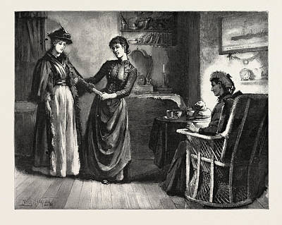 Coming Into The Room Art Print by Macquoid, Percy (1852-1925), English