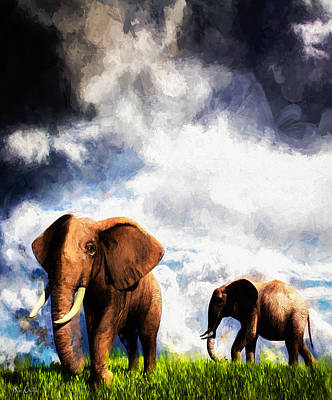 Wildlife Painting - Coming Storm by Bob Orsillo