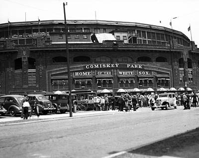 Comiskey Park Looms Art Print by Retro Images Archive