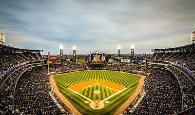 Photograph - Comiskey Park Night Game by Anthony Doudt