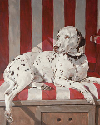 Commision Painting - Comma The Dalmatian by Anke Classen