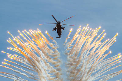 Photograph - Commando Sea King Firing Flares by Ken Brannen