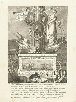 Commemorative Column Battle Of Waterloo, Cornelis Bogerts Art Print
