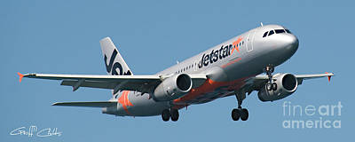 Jetstar Photograph - Commercial Aircraft At Sydney Airport by Geoff Childs