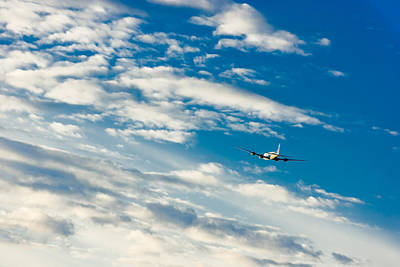 Commercial Airliner Taking Off From Ted Art Print by Kevin Smith