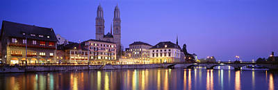 Limmat Photograph - Commercial District, Limmatquai by Panoramic Images