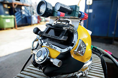 Welding Photograph - Commercial Diving Helmet by Louise Murray