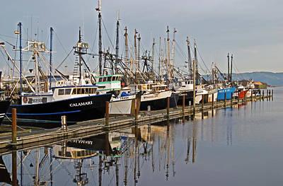 Commercial Fishing Boats Dock Art Print