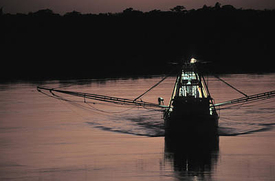 Shrimp Boat Photograph - Commercial Fishing by Peter Essick