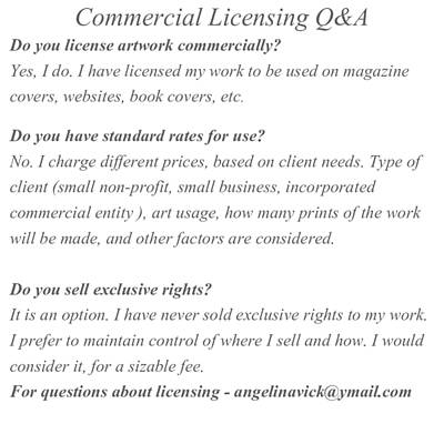 Mixed Media - Commercial Licensing  by Angelina Vick