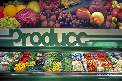 Photograph - Commissary Market Fruit Produce Display by David Zanzinger