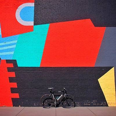 Cycling Photograph - [commissioned] #streetartforbreakfast by Mike S