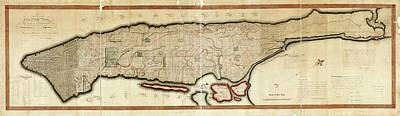 1811 Photograph - Commissioners' Plan Of Manhattan by Library Of Congress, Geography And Map Division