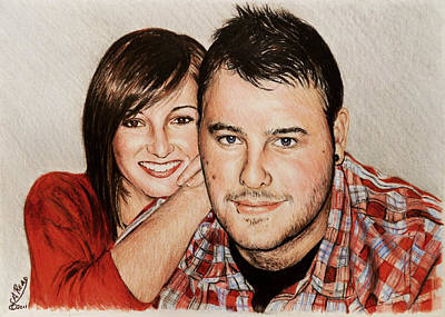Colored Pencil Portrait Drawing - Commissions by Andrew Read