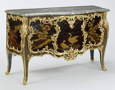 Ebony Painting - Commode Attributed To Joseph Baumhauer, French by Litz Collection