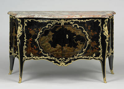 Silver Oak Painting - Commode Bernard II Van Risenburgh, French by Litz Collection