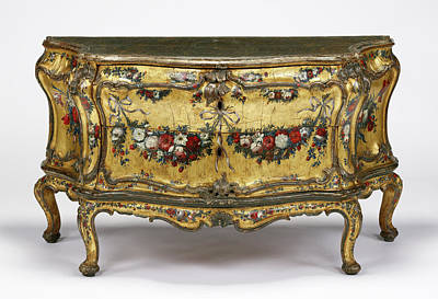Silver Oak Painting - Commode Unknown Venice, Italy, Veneto, Europe About 1745 - by Litz Collection