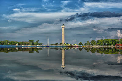 Commodore Perry Monument Art Print by Kevin Cable