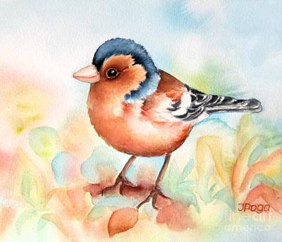 Painting - Common Chaffinch by Inese Poga