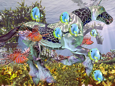 Turtle Mixed Media - Common Ground by Betsy Knapp
